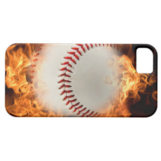 Baseball on fire iPhone 5 case