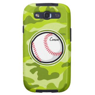 Baseball on Green Camo Camouflage Samsung Galaxy SIII Covers