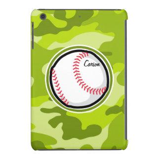 Baseball on Green Camo Camouflage iPad Mini Retina Cover