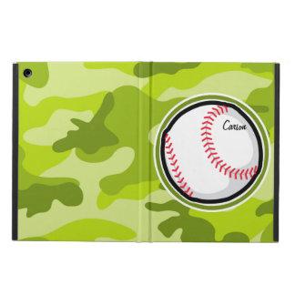 Baseball on Green Camo Camouflage iPad Air Case