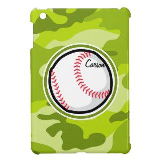 Baseball on Green Camo Camouflage iPad Mini Covers