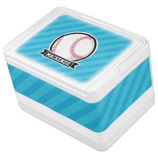 Baseball on Sky Blue Stripes