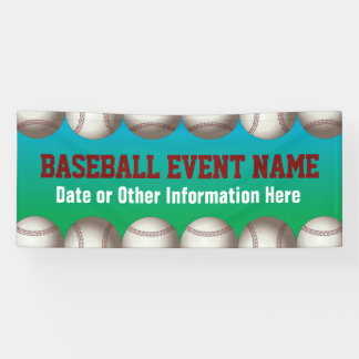 Baseball or softball event banner
