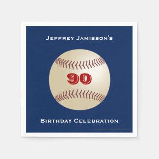 Baseball Paper Napkins, Birthday Party, Any Age Disposable Napkins