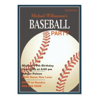 Baseball Party Birthday Invitation
