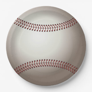 Baseball Party Paper Plates 9 Inch Paper Plate