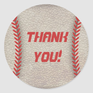 Baseball Party Thank You Stickers