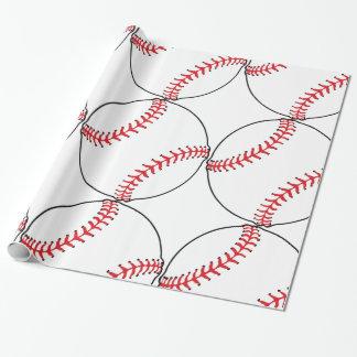 Baseball Pattern Wrapping Paper