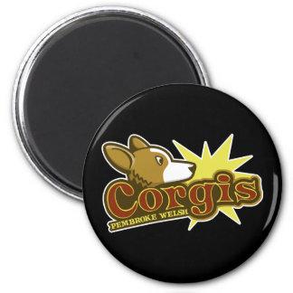 Baseball Pembroke Welsh Corgis Logo Magnet