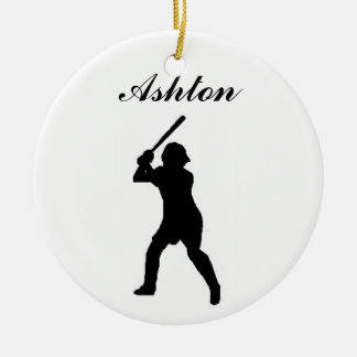 Baseball Personalized Christmas Ornament