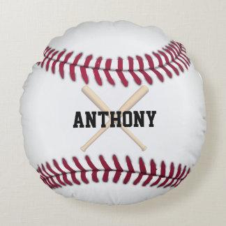 Baseball Personalized Round Pillow