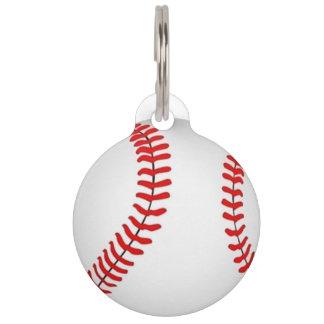 Baseball Pet ID Tag