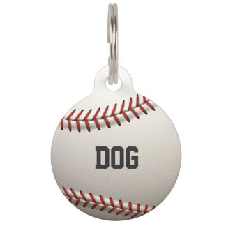 Baseball Pet Name Tag