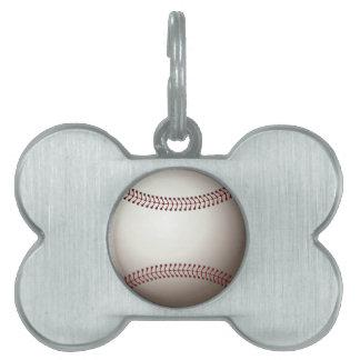 Baseball Pet Tag