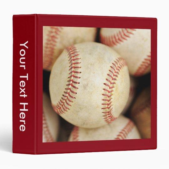Baseball Photo Vinyl Binders