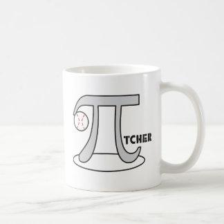 Baseball Pi-tcher - Funny Pi Classic White Coffee Mug