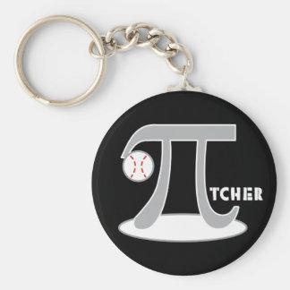 Baseball Pi-tcher - Funny Pi Day Gifts Keychain
