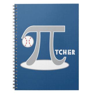 Baseball Pi-tcher - Funny Pi Note Books