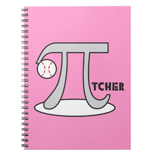 Baseball Pi-tcher - Funny Pi Notebooks