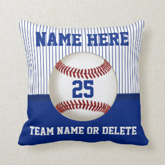 Baseball Pillow Personalized Name, Number, Team