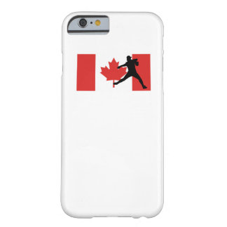Baseball Pitcher Canadian Flag Barely There iPhone 6 Case