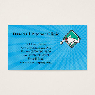 Baseball Pitcher Clinic Business Card