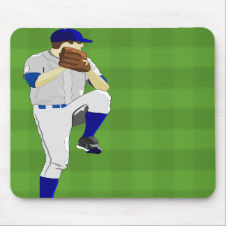 Baseball Pitcher Windup Mousepad