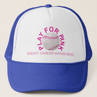 Baseball Play for Breast Cancer Awareness Hat