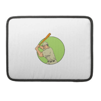 Baseball Player Batting Stance Circle Drawing Sleeve For MacBook Pro