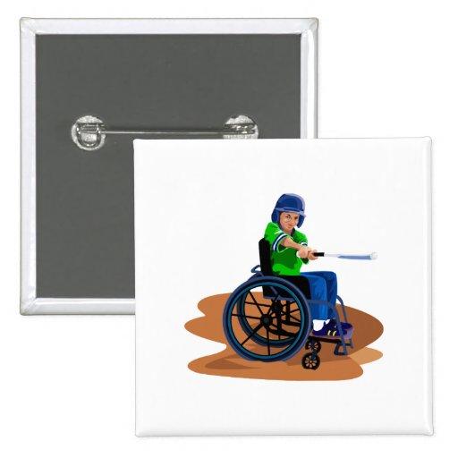 Baseball Player Pinback Button