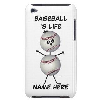 Baseball Player Cartoon iPod Touch Case