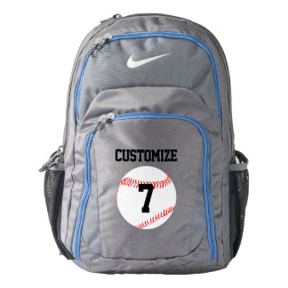 Baseball Player Custom Jersey Number Backpack