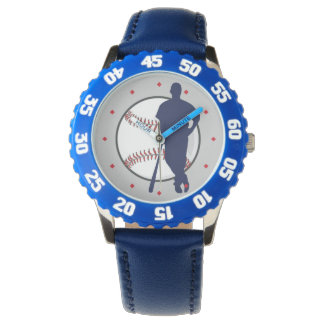 Baseball Player Diamond Tick Watch