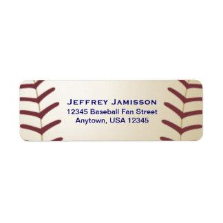 Baseball Player Fan Name and Address Label