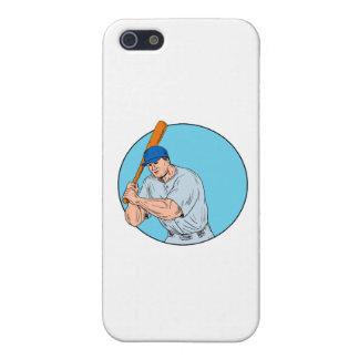 Baseball Player Holding Bat Drawing iPhone 5 Case