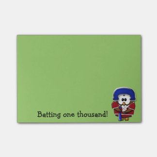 baseball player owl post-it® notes