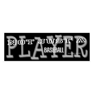 Baseball Player - Social Media Personal Card Mini Business Card