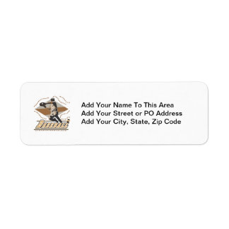 Baseball Player T-shirts and Gifts Return Address Label