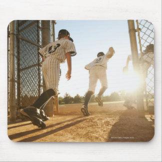 Baseball players (10-11) entering baseball mouse pad