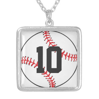 Baseball Players Number Charm Necklace