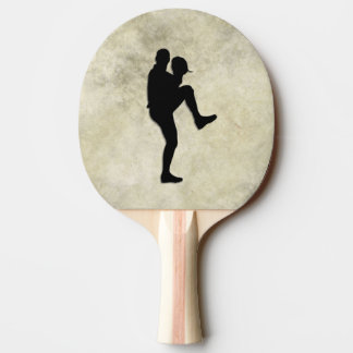 Baseball Players Pitcher and Batter Ping Pong Paddle