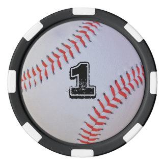 Baseball poker chips