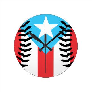 Baseball Puerto Rico Clock