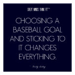 Baseball Quote 3: Goals for Success Poster
