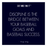 Baseball Quote 7: Discipline for Success Poster