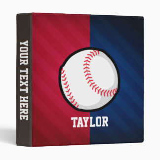 Baseball; Red, White, and Blue Vinyl Binders