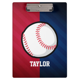 Baseball; Red, White, and Blue Clipboard