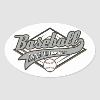 Baseball Respect Oval Sticker