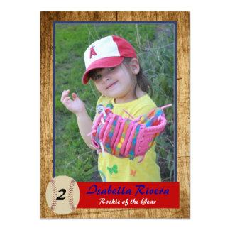 Baseball Rookie Card Birthday Invite