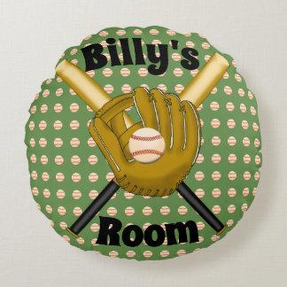 Baseball Round Pillow
